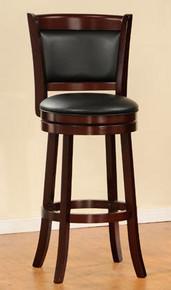 Shapel II Dark Cherry Swivel Bar Chair   Sturdy Swivel Bar Chair in Dark Cherry