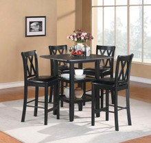 39 Norman Black Square Counter Height Set