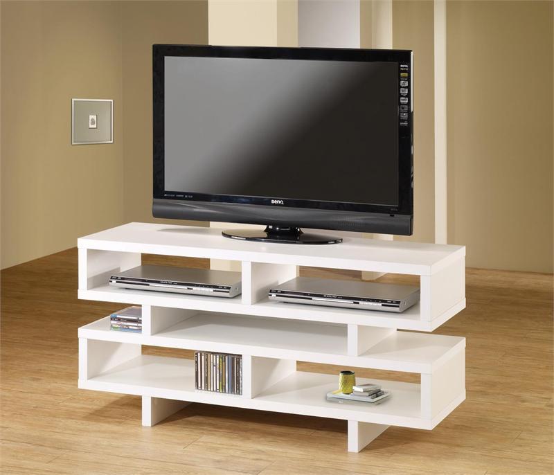Tv Console Contemporary White Tv Media Cabinet Center