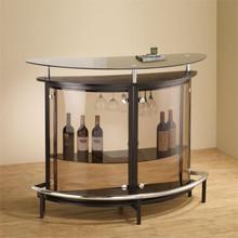 Contemporary Black Glass Bar Counter | Sturdy Home Bar Counter