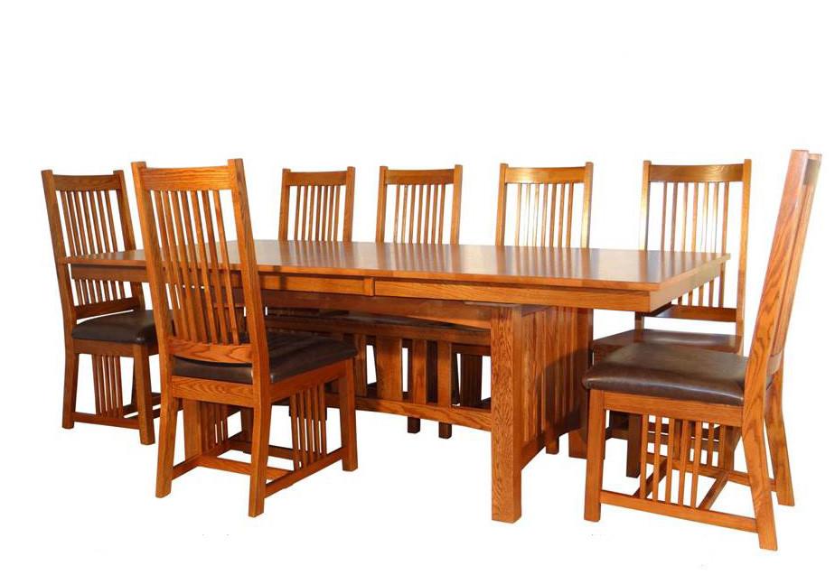 Mission Hills Solid Oak Dining Table Set Mission Dining Furniture
