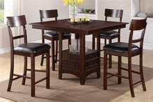 Kamryn Counter Height Set with Leatherette Chairs
