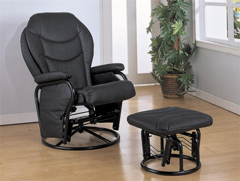 Black Glider Rocker Chairs Recliners Glider Chair For Sale