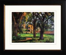Paul Cezanne - Trees and Farm House 1885