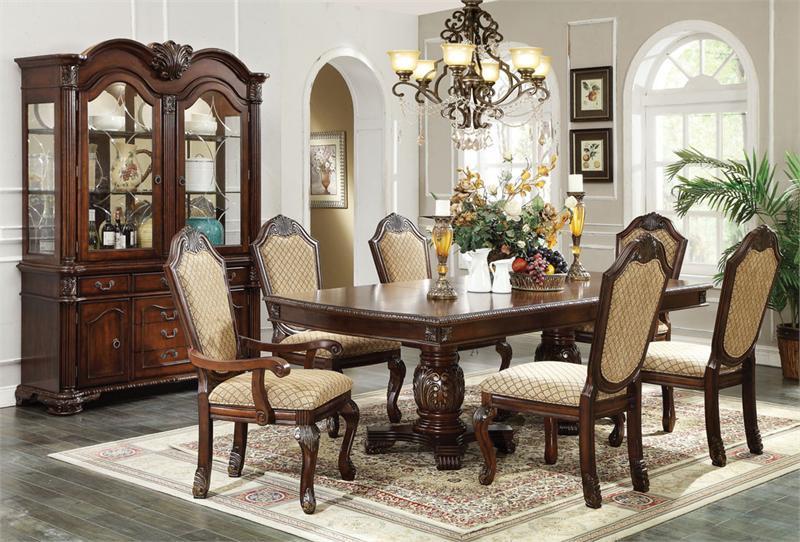 96quot Dinan Espresso Formal Dining Table Set eFurnitureHouse : AC64075formaldiningtableset07898141211507512801280 from www.efurniturehouse.com size 800 x 542 jpeg 93kB