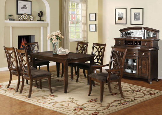 82 Maybell Dark Walnut Dining Table