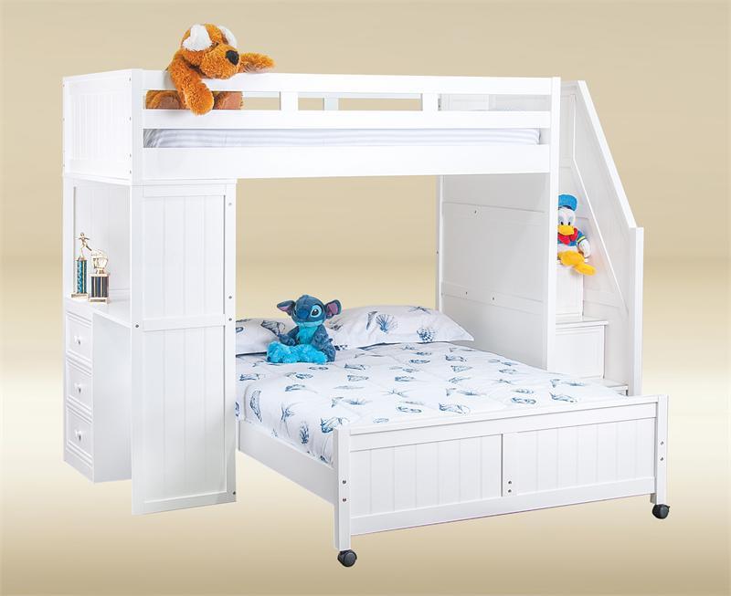 Full Loft Bed Desk Stairs Hostgarcia