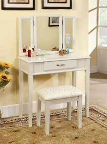 Ria White Makeup Vanity with Mirror