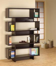 """47"""" Contemporary Cappuccino Bookcase"""