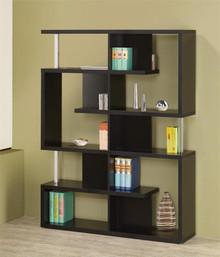 """47"""" Contemporary Black Bookcase"""