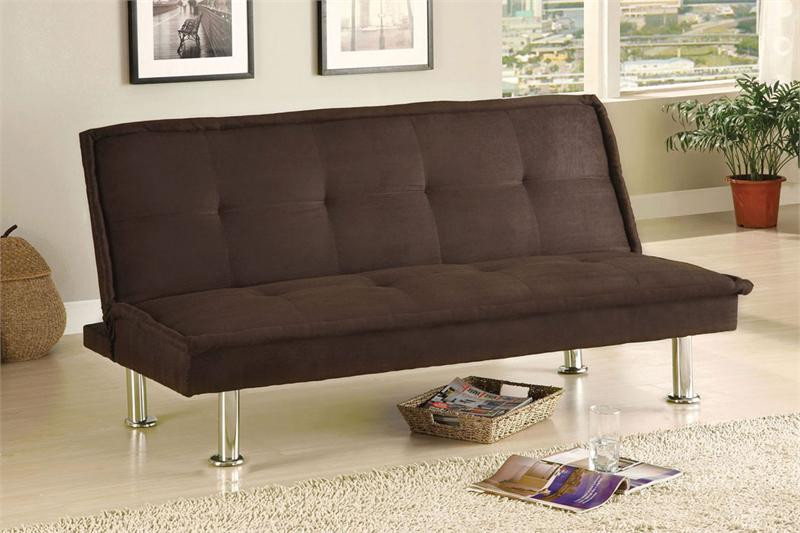 Beach Front Espresso Microfiber Futon Sofa Bed For Sale
