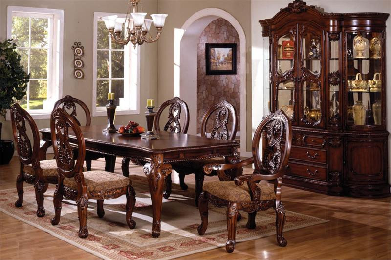 Bon Tuscany Antique Cherry Dining Room Set For 8 ...