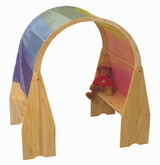 Little Colorado Two Play Stands with Arch and Silk Drape