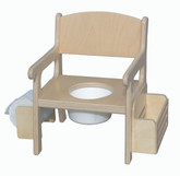Little Colorado Potty Chair with Accessories in Natural Finish
