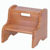 Little Colorado Kid's Solid Wood Step Stool - Honey Oak Finish