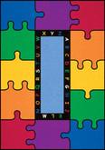 Learning Carpets ABC Rainbow Puzzle Cut Pile Rug - Rectangular