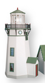 1 Inch Scale New England Lighthouse Unfinished Dollhouse Kit