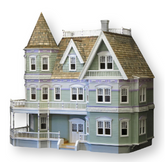 Queen Anne Unfinished Dollhouse Kit