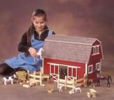 Ruff'n Rustic All American Big Barn Unfinished Dollhouse Kit