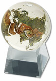 Shasta Visions Clear Crystal Globe - 3 Inch Diameter on Tapered Glass Base (181-CL)
