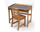 Lipper International Child's Chalkboard Desk & Chair, 2-Piece Set, Pecan Finish (554P)