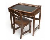 Lipper International Child's Chalkboard Desk & Chair, 2-Piece Set, Walnut Finish (554WN)