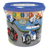 Clics Hero Squad Police Drum Construction Set, 135 Pieces