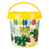 Clics Dino Squad Dinosaur Drum Construction Set, 374 Pieces (CD001)