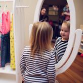 Little Colorado Child's Cheval Mirror - White