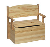 Little Colorado Bench Toy Box - Unfinished