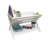 Lipper International Kid's Book Caddy With Shelf, White