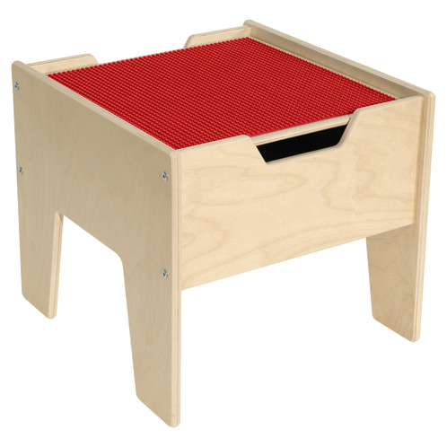 2-N-1 Activity Table with LEGO™ Compatible Top - Red