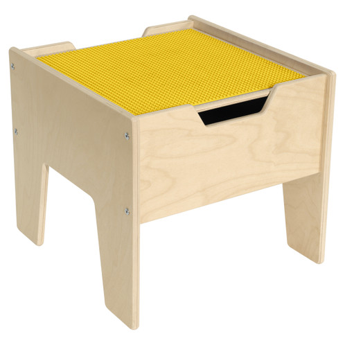 2-N-1 Activity Table with LEGO™ Compatible Top - Yellow