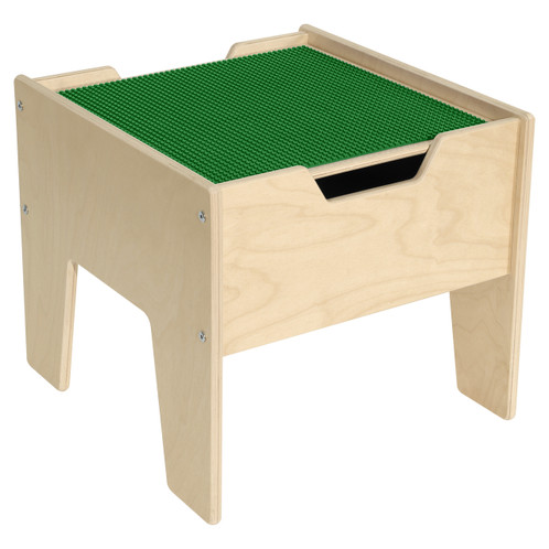 2-N-1 Activity Table with LEGO™ Compatible Top - Green