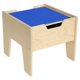 2-N-1 Activity Table with LEGO™ Compatible Top - Blue