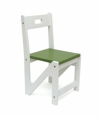 Lipper International Kids ZigZag Stacking Chairs, Set of 2, Green