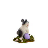 Wee Forest Folk Miniature - Standing Bunny (A-7-Black)