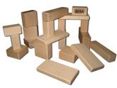 Beka Wooden Blocks - 20 Piece Toddler Set