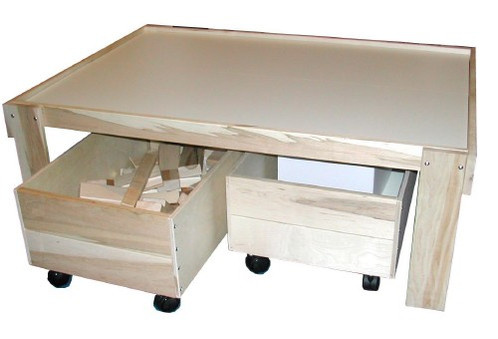 Beka Train Table with Optional Trundles