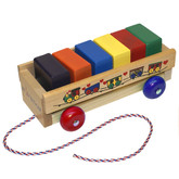 Holgate My 1st Block Wagon - Primary Color Blocks