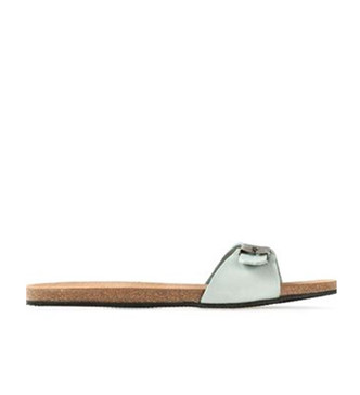 Mint Sandals with Buckle