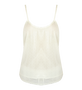 Ottod'Ame Sheer Lace Cami in White