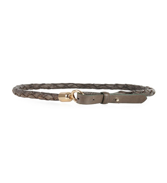 Intropia Braided Belt in Dark Brown