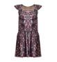 Tara Jarmon Forest Flower Ruffle Mini Dress