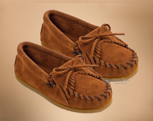 kids-kilty-hardsole-brown moccasins