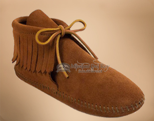 Classic Kids Fringed Suede Boot Moccasins