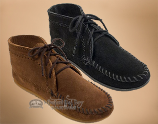 Women's Suede Ankle Boot Moccasins