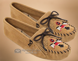Women's Beaded Thunderbird Moccasins