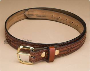 Amish Rope & Barbwire Leather Belt