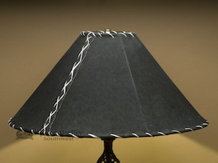 black leather lamp shades
